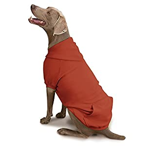 Zack & Zoey Forest Friends Reversible Hoodie for Dogs, Orange, Medium