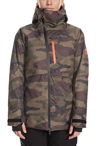 686 Women's GLCR Hydra Jacket - Waterproof Ski/Snowboard Winter Coat, Dark Camo, Small