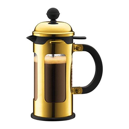 Bodum 11170-17 New Chambord Kaffeebereiter 3 Tassen, Borosilikatglas, Gold