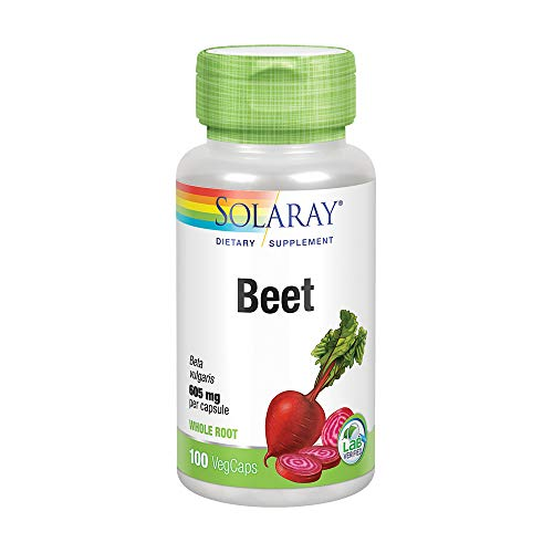 Solaray Beet Root 605mg   May Support Cardiovascular Health & Athletic Performance, Kidney, Liver & Blood Health   Non-GMO   Vegan   100 VegCaps