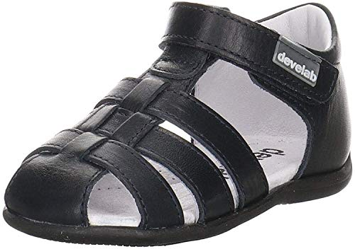 Develab Mädchen Sandalen Sandale Leder blau Gr. 23