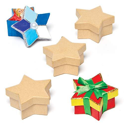 """Baker Ross Pappschachteln """"Stern"""" zum Basteln und Gestalten für Kinder, auch als Weihnachtsschmuck/Weihnachtsdeko (5 Stück)"""