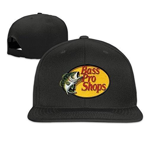 SHUIFENG66 Bass Pro Shops Logo Unisex Adjustable Flat Fitted Hat Baseball Cap Black,Sombreros y Gorras