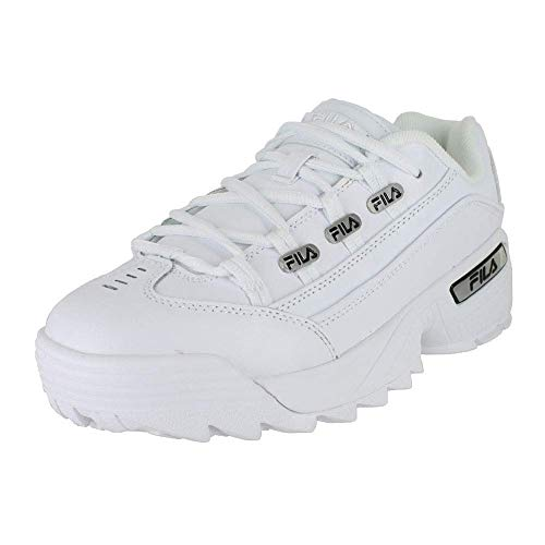 Fila 1CM00408-120: Mens Hometown White Black White Sneakers (10 D(M) US Men)