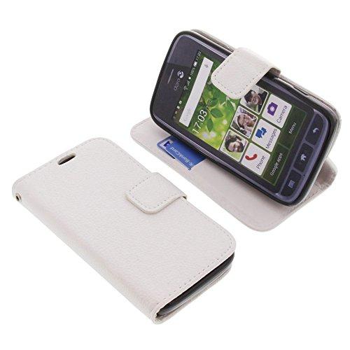 foto-kontor Tasche für Doro Liberto 820 Mini Book Style Weiß Schutz Hülle Buch