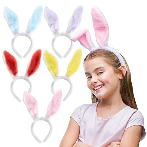 THE TWIDDLERS 5 Ostern Hasenohren Haarreifen, Bunny Haarbänder für Kinder & Erwachsene - Osterfest Kostüm.
