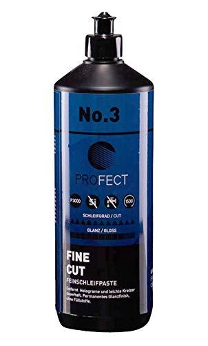 PROFECT Fine Cut No. 3 | Feinschleifpaste | Schleifpolitur mit feinem Schliff | Hochglanz-Finish, 1000 ml