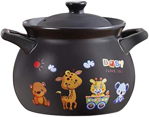 HYYDP Cacerolas Guiso Pot Casserole Dish Casserole Platos con párpados - Casserole Stef Pot Temperatura Alta Temperatura Terrenos Sopa de Sopa Cerámica Pequeña Casserole Sopa Pot (Size : 2.7L)