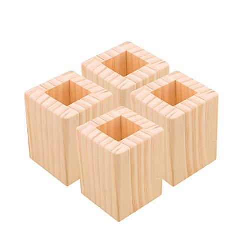 4 unids Muebles de Madera Aumentar el Almohadilla Aumento de 5 cm Groove Cuadrado para el sofá Elevado el Escritorio del Escritorio del Escritorio del Escritorio de la computadora
