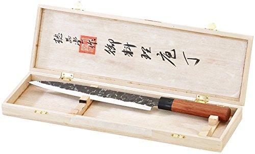 TokioKitchenWare Filetiermesser: Filiermesser mit Echtholzgriff, handgefertigt (Filitiermesser)