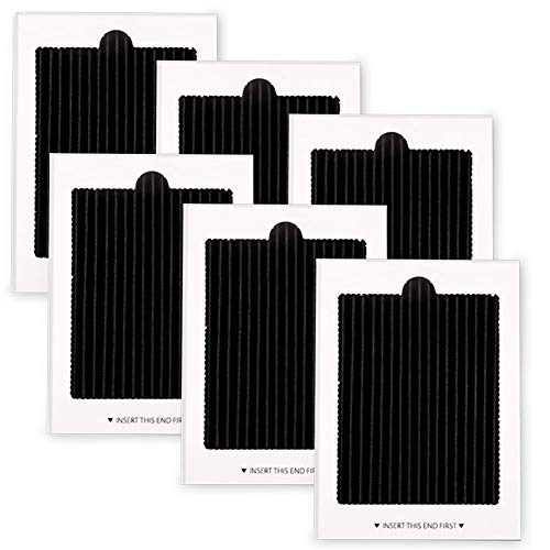 Refrigerator Air Filter Replacement 6 Pack - Carbon Activated Filter Compatible with Frigidaire & Electrolux Pure Air Ultra Reduce Odors for EAFCBF, PAULTRA, RAF1150 242061001,242047801, 242047804