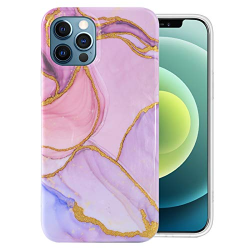 iPhone-12-Pro-Case with Glass Screen Protector, Cute Design Transparent Flower for Girls-Women-Best-Protective Slim-Fit-Clear-TPU-Soft-Silicone-Girly-Cover-Phone Case for iPhone 12 Pro (13)