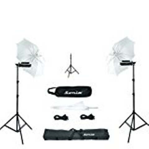 Sonia Pair Porta Umbrella Video Light 4 Still Video Photography Portable Studio Kit