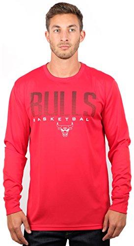 Unk NBA Vlm0291f-am NBA Herren Performance Poly Langarmshirt, Teamfarbe, Herren, NBA Herren Performance Poly Langarm T-Shirt, Teamfarbe, VLM0291F-AM, rot, L