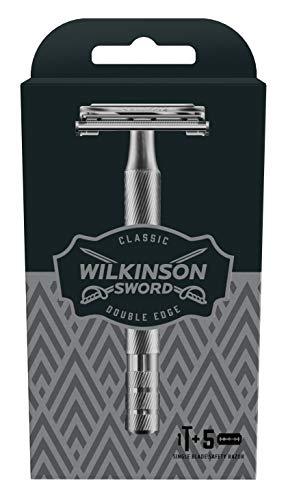 Wilkinson Sword Classic Vintage Edition Scheerapparaat voor heren, met 5 scheermesjes, 1 stuks