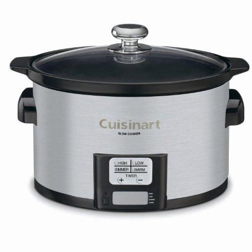Cuisinart PSC-350 Programmable 3-1 / 2 Quart Slow Cooker, Silver, 9-1 / 2 '' H x 9.1 '' W x 12.67 '' W