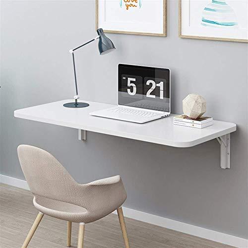 Mesa plegable de pared, mesa de trabajo, mesa de comedor de cocina, mesa de comedor (color: blanco, tamaño: 80 x 40) estantes de almacenamiento (tamaño: 80 x 40)