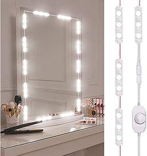 Viugreum Luces LED de Espejo,Luces de camerino,DIY Lámpara para Espejo de maquillaje, Luces Modulos Para espejo,armario,estantería,tocador,60 Bombillas LED