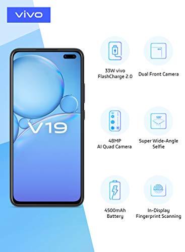 Vivo V19 (Mystic Silver, 8GB RAM, 256GB Storage) with No Cost EMI/Additional Exchange Offers