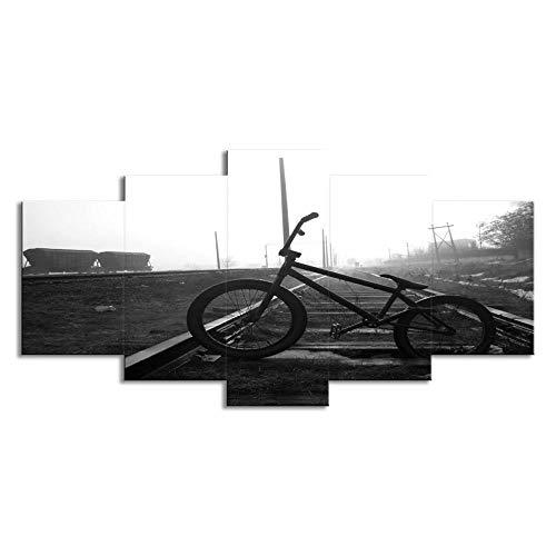 Preisvergleich Produktbild YB Bahnrad Landschaftsphotographie Raumwand Künstler dekorative Stück Plattenschiene,  L: 12X18inch-2P 12X24inch- 2P 12X30inch -1P,  Leinwandmalerei Kern