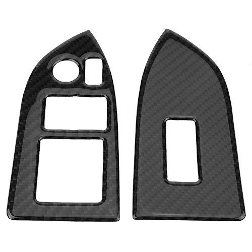 Elerose Cache-bouton pour interrupteur de fenêtre en fibre de carbone 86 13-18
