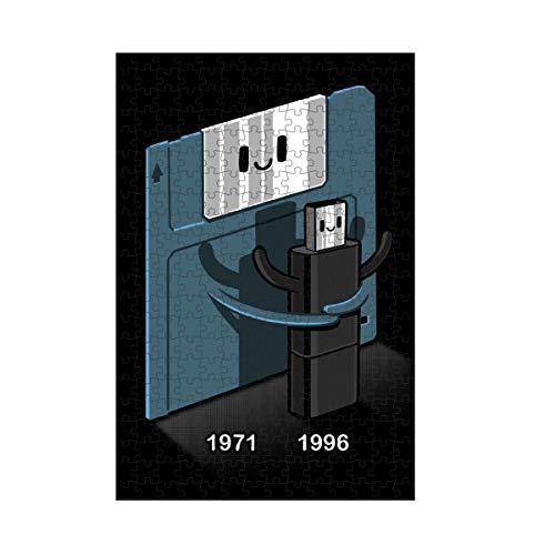 artboxONE Puzzle M 266 Teile Comic Floppy Disk Love Pendrive Puzzle Floppy Disk Floppy Disk Funny