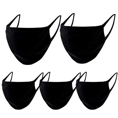 Pack de 5 protectores faciales unisex, lavable y reutilizable con elástico para...