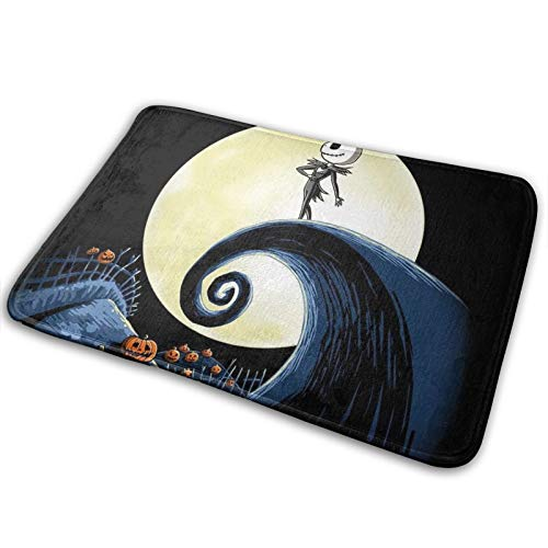 Memory Foam Bath Rug Jack Skellington Disney The Nightmare Before Christmas Non Slip Absorbent Washable Carpets for Home Kitchen Room Bathroom Flannel Rug 16'x24'
