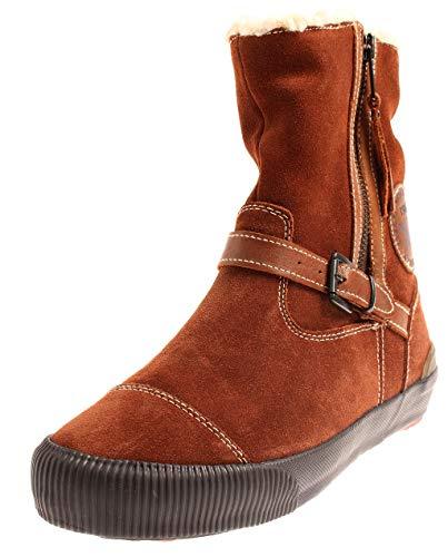 Mexx F9RE0016 Damen Lederbootie Lederschuhe Boots Schuhe Bootie Braun EU 37