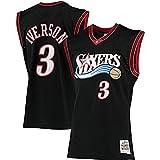 Gflyme Herren Trikot NBA Allen Iverson - Philadelphia 76ers # 3 Retro Vintage Basketball Jersey Jacke Weste, bestickte Swinger, Sportswear schwarz (Color : Black, Size : XL)