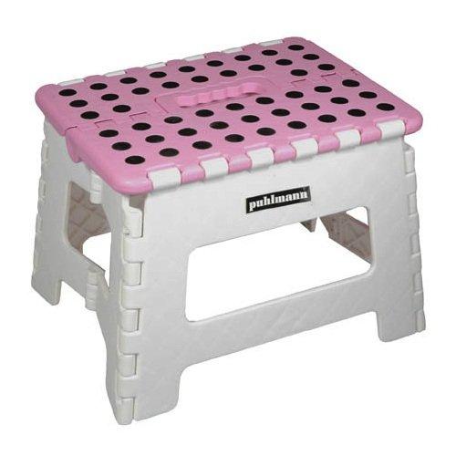 Klapp-Hocker Miss Daisy - grau/pink