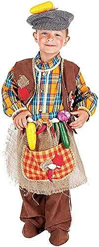 Carnevale Venizano CAV5070-M - Kinderkostüm FRUTTIVENDOLO - Alter  7-10 Jahre - Größe  M
