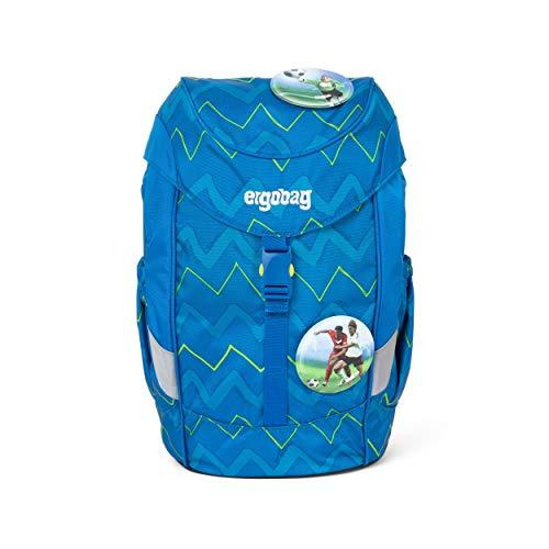 Ergobag Mini LiBäro 2:0, ergonomischer Kinderrucksack, Kindergarten Vorschule, DIN A4, 10 Liter, 500 g, Zickzack Blau Grün