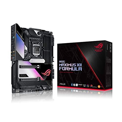 ASUS ROG Maximus XII Formula Gaming Mainboard Sockel 1200 (ATX, Intel Z490, USB 3.2 Gen 2, On-Board WiFI 6, 3x M.2-Steckplätze, Aura Sync)