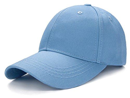 Edoneery Unisex-Baseballkappe für Kleinkinder, Kinder, einfarbig, Baumwolle, verstellbar, niedriges Profil (A1009) - Beige - Einheitsgröße