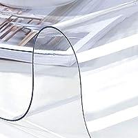褪色防止テーブルカバー 元のテーブルクロステーブル箔高光沢測定するために、PVCテーブルクロスクリスタルクリア、プラスチックテーブルクロス2.0ミリメートル 多目的テーブルクロス (Color : Transparent 2.0mm, Size : Diameter 140cm)