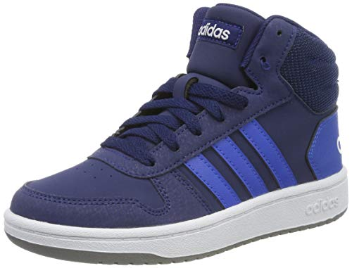 adidas Unisex-Kinder Hoops 2.0 Mid Hohe Sneaker, Blau (Dark Blue/Blue/Footwear White 0), 40 EU