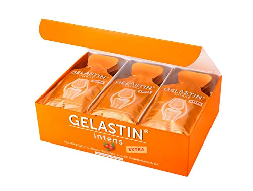 GELASTIN intens Extra Gel bei Arthrose und Gelenkschmerzen (bilanzierte Diät), 1-Monatspackung, 30 kleine Portionsbeutel perfekt für Unterwegs