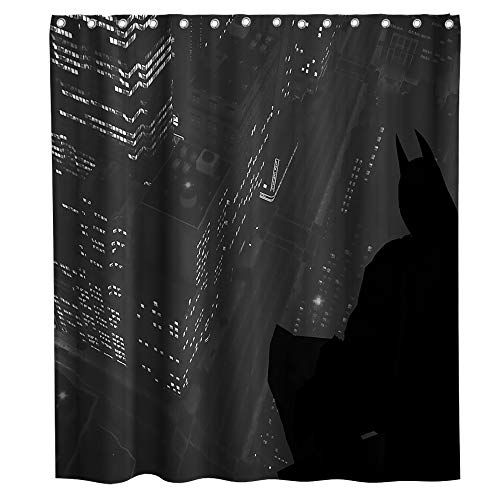 Black Shower Curtain with Batman