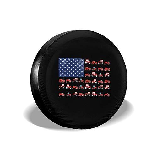 GOSMAO Cubiertas modificadas para requisitos particulares de la Rueda de la Cubierta del neumático de Repuesto de la Bandera Americana del Tractor para el tamaño de los vehículos 15 Pulgadas