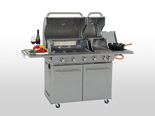 Coobinox Edelstahl Gasgrill 4 Brenner Double Power