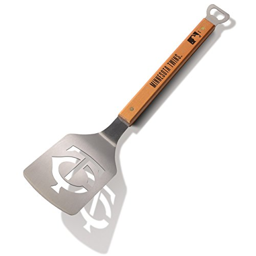 Great Price! MLB Minnesota Twins Sportula, Heavy Duty Stainless Steel Grilling Spatula