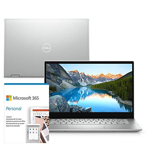 "Kit Notebook 2 em 1 Dell Inspiron 5406 14"" Full HD Touch 11ª G Intel Core i7 8GB 256GB SSD Windows 10 Microsoft 365 McAfee"