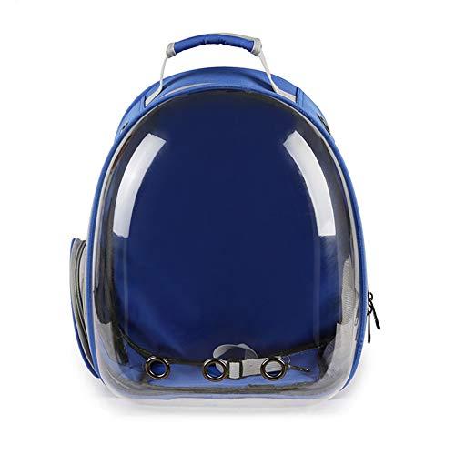 Aida Bz Pet Sac à Dos Pet Bag Out Portable Sac à Dos pour Animaux de Compagnie Sac Transparent Espace Pet Sac Chat,Blue