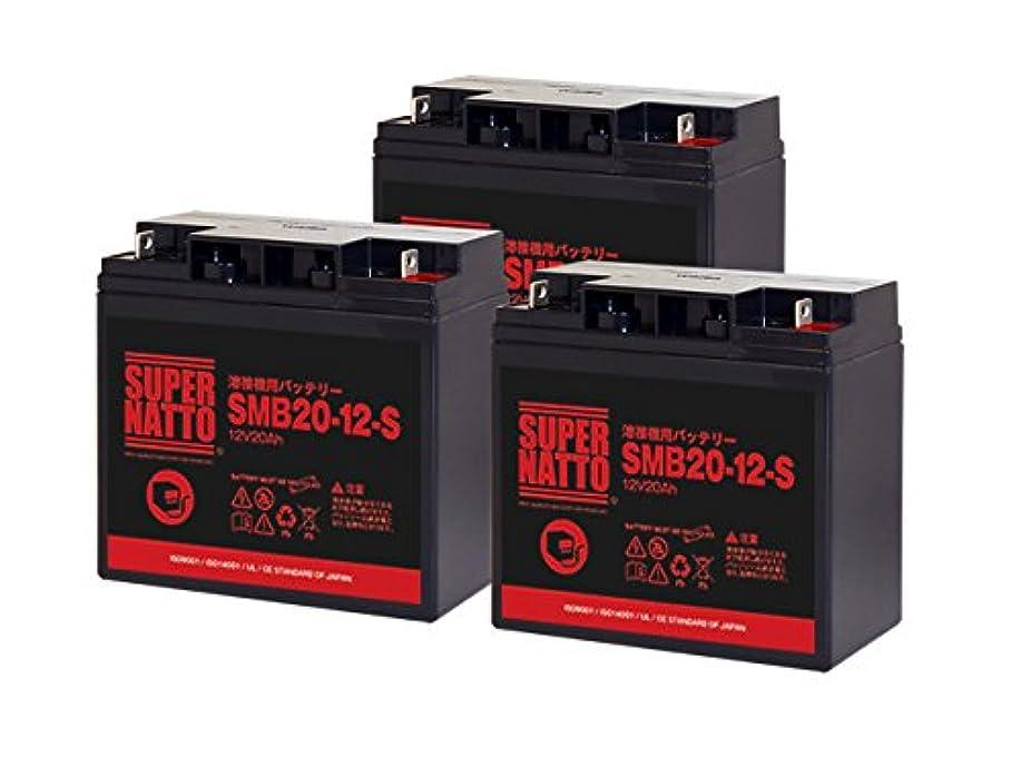 間違いなく報酬の衝動【初期補充電済み】 スーパーナット 溶接機用バッテリー SMB20-12-S 3個セット■SMB20-12互換■専用設計■ スズキッド ヴィクトロン130 SBV-130 用
