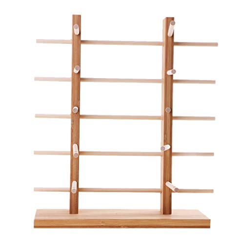 Unlackiertes Holzgestell für Sonnenbrillen, 2-reihig, 3/4/5/6 Ebenen, 5-lagig