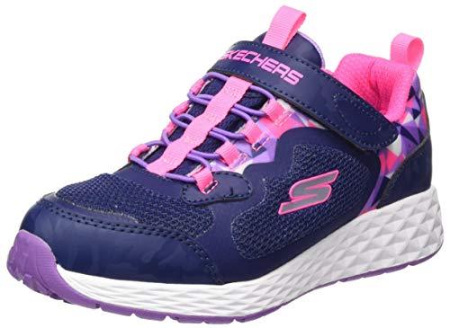 Skechers Jungen Mädchen Waterproof Gore & Strap W/pri Sneaker, Navy Synthetic/Pink Trim, 27 EU