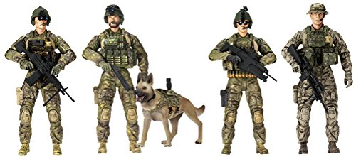 Elite Force Army Ranger Action Figures – 5 Pack Military Toy Soldiers Playset | Realistic Gear and Accessories – Sunny Days Entertainment