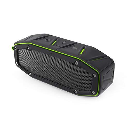 HIOD Bocina Bluetooth Nivel IPX6 Impermeable Al Aire Libre Mini Altavoz Inalámbrico 10m (33 pies) Distancia 18h Tiempo de Juego,Green