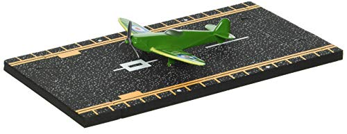 Hot Wings Spitfire with Connectible Runway, Green